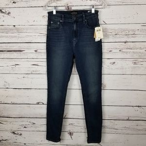 LUCKY BRAND Jeans Blue Ripped Ankle Pocket Cotton
